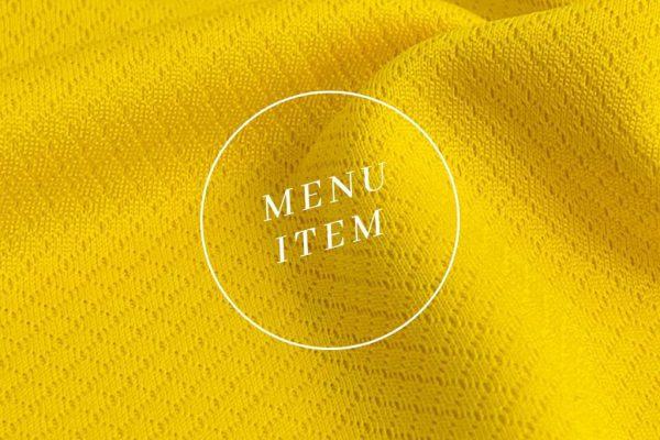 menu items yellow